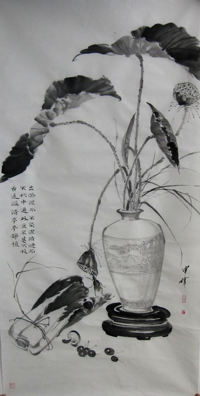 素描手绘书加枫叶